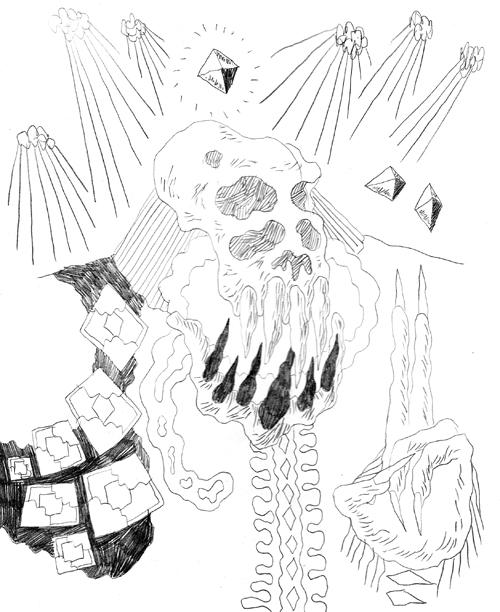 Pencil Hyperlord Skull
