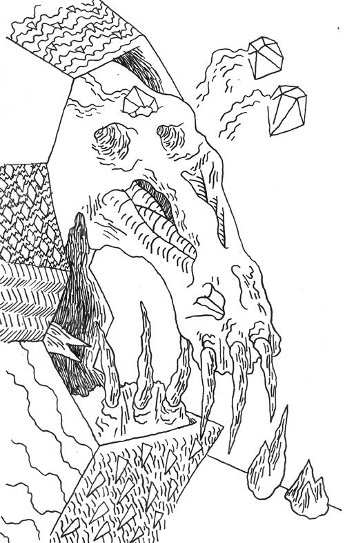 Dip Pen Hyperlord Skull
