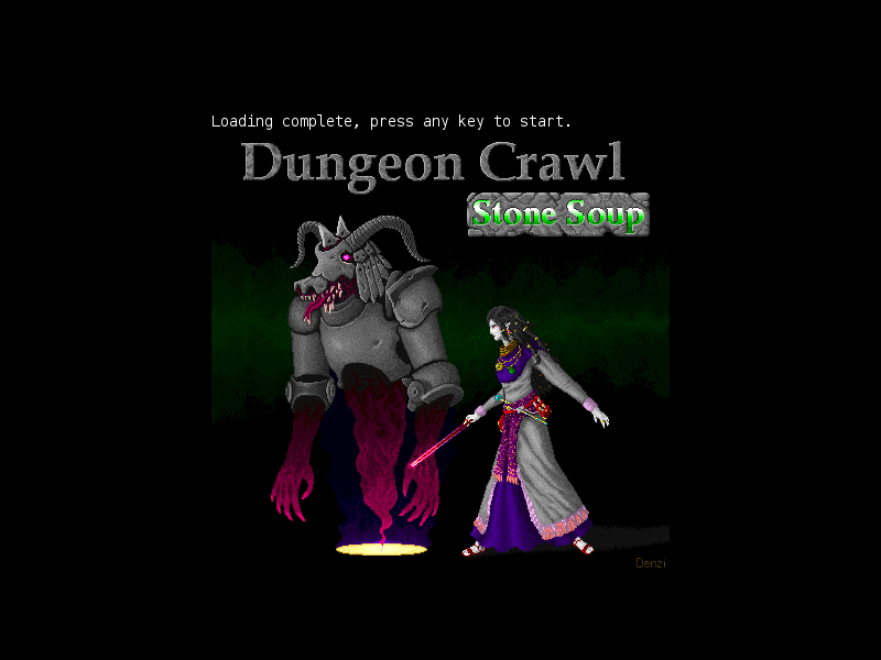 Dungeon Crawl Stone Soup Title Screen