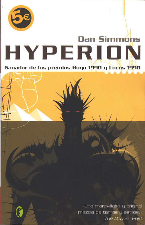 Spanish cover of Hyperion by Dan Simmons