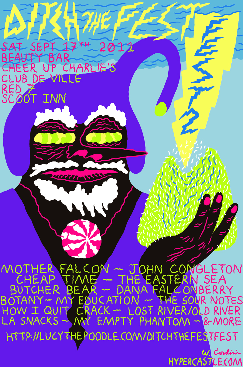 Ditch the Fest Fest 2 flyer by Cardini