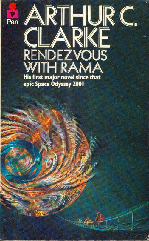 Rendezvous with Rama by Arthur C Clarke, cover artist not credited