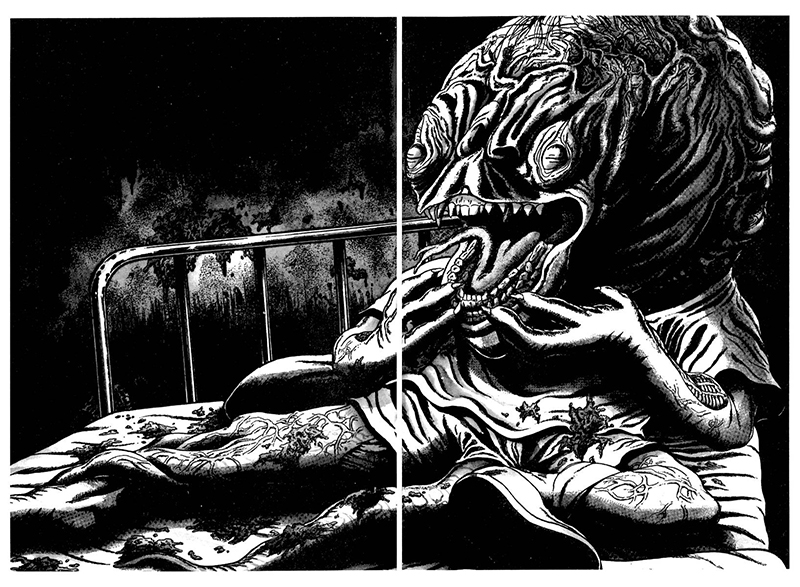 Umezu Kazuo monster drawing