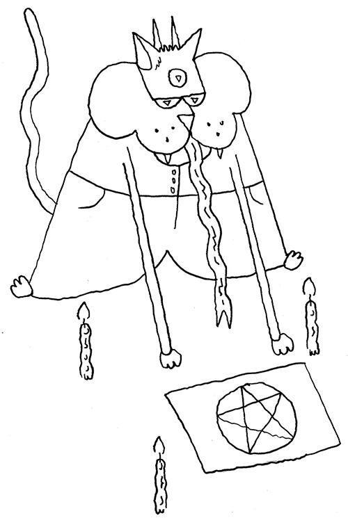 five-eyed office-dwelling cat-demon