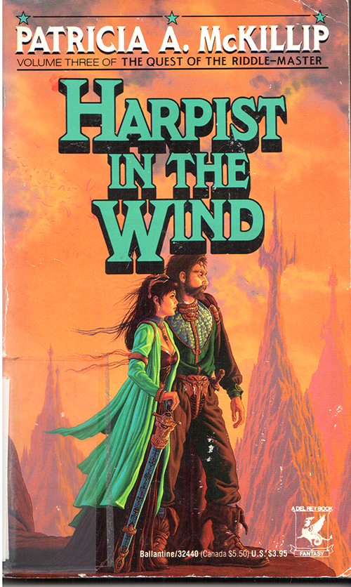 Harpist in the Wind by Patricia McKillip cover by Darrell K Sweet