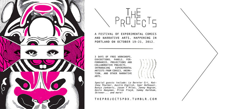 The Projects postcard