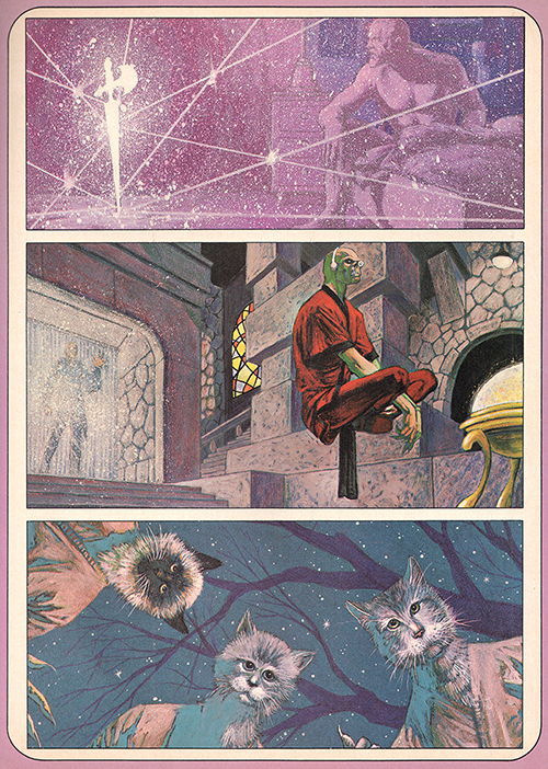 Jim Starlin paintings for Dreadstar