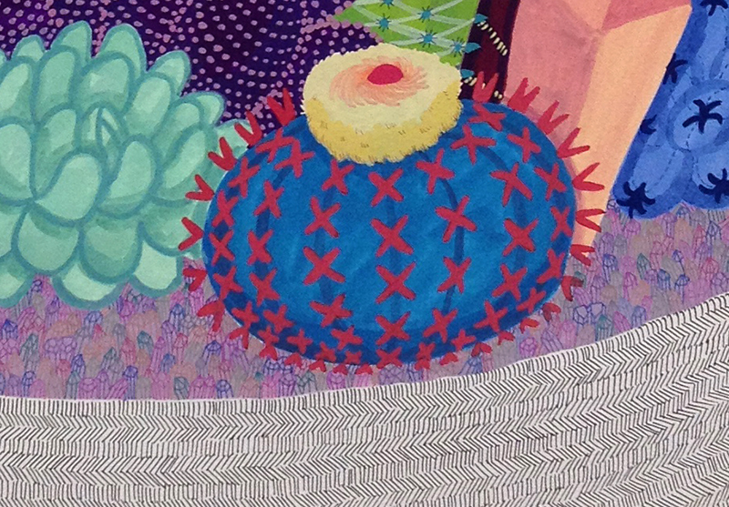 Detail of Crystal Cactus by Melinda Tracy Boyce