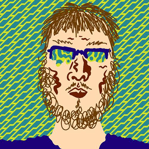William Cardini self-portrait