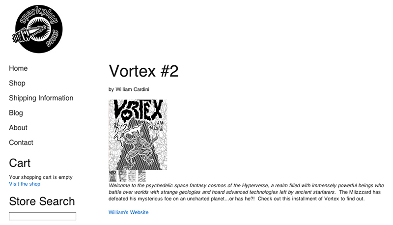 Vortex 2 in the Sparkplug Books Store