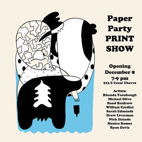 Paper Party Print Show flyer
