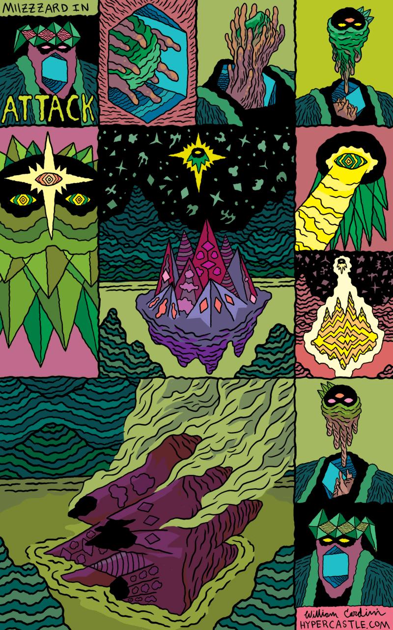 Miizzzard in ATTACK colored by Josh Burggraf