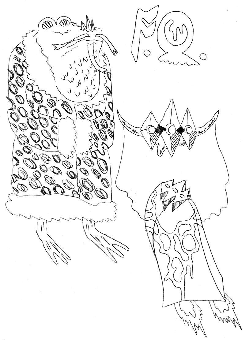 William Cardini sketchbook page