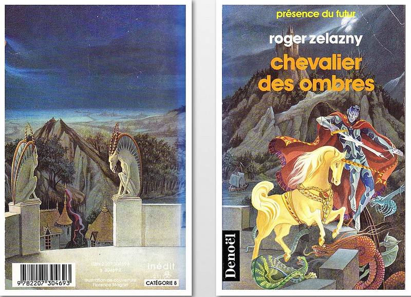 French cover of Knight of Shadows by Zelazny, cover by Florence Magnin