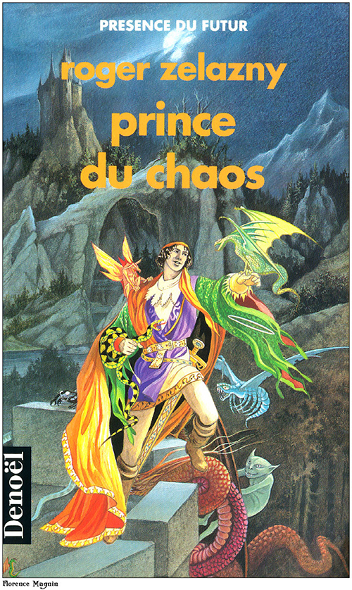 French cover of Prince of Chaos by Zelazny, cover by Florence Magnin